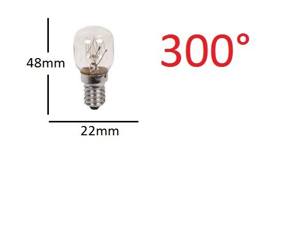 Ampoule de fourE14 15W 22X48 300°