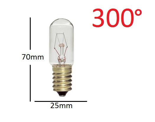 Ampoule de fourE14 25W 25X70 300°
