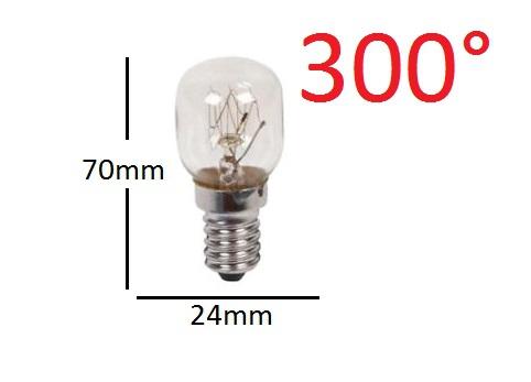 Ampoule de four E14 25W 300° 24X70