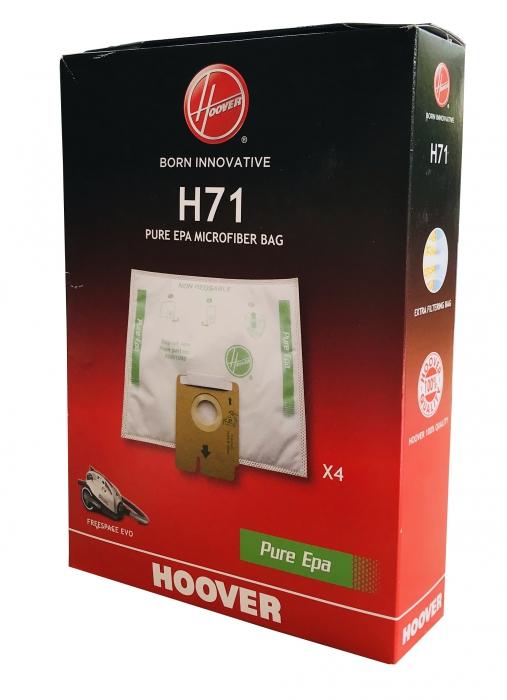 x4 sacs aspirateur HOOVER FREESPACE EVO FV70 FV07 - Microfibre