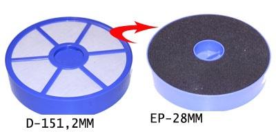 Filtre avant moteur lavable aspirateur DYSON DC08