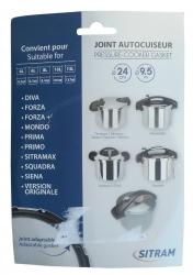Joint pour autocuiseur SITRAM PRIMA 4L / 6L / 8L / 10L
