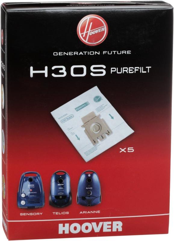 x5 sacs aspirateur hoover h30s purefilt lot de 5 sacs microfibre haute filtration. Black Bedroom Furniture Sets. Home Design Ideas