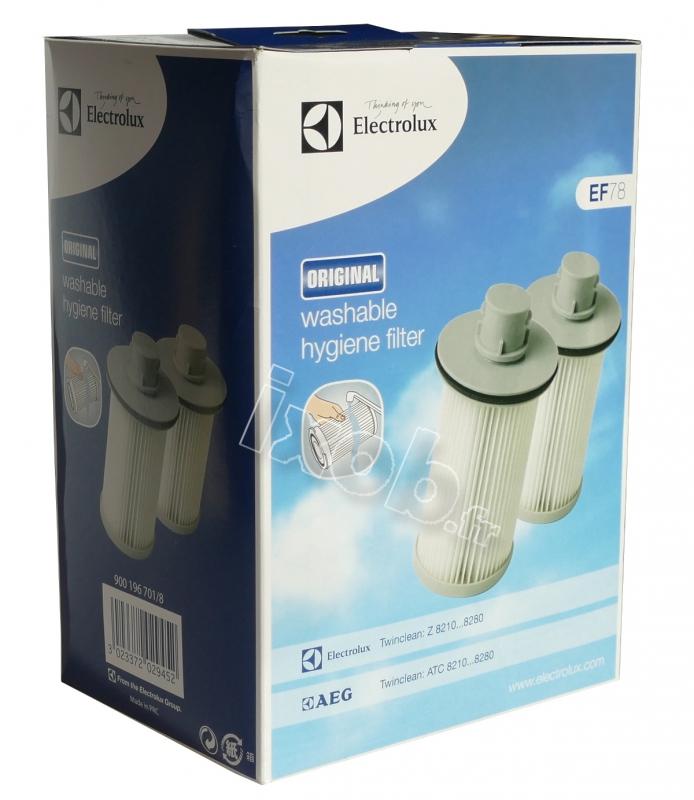 2 filtres ef78 aspirateur sans sac electrolux z8266. Black Bedroom Furniture Sets. Home Design Ideas