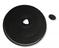 Filtre charbon actif 233mm hotte SMEG KSEI62