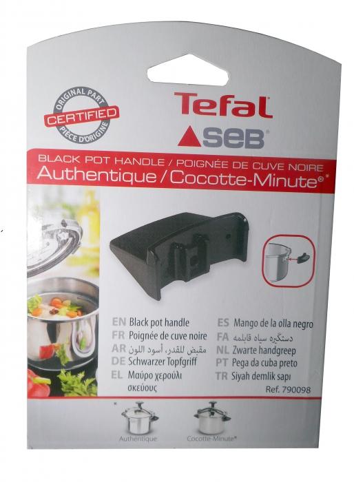 Poignée noire pour cocotte SEB AUTHENTIQUE INOX 4,5L
