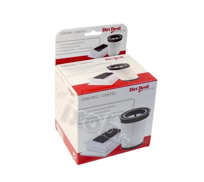 KIT 5 filtres aspirateur DIRT DEVIL CENTEC M2827 2, M2827 4