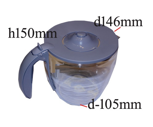verseuse verre cafetiere bosch private collection - tka6028