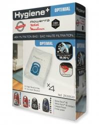 4 sacs hygiene+ aspirateur MOULINEX MO3953PA - COMPACT POWER PARQUET