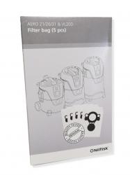 4x sacs originaux aspirateur NILFISK ALTO AERO 21-01 PC INOX