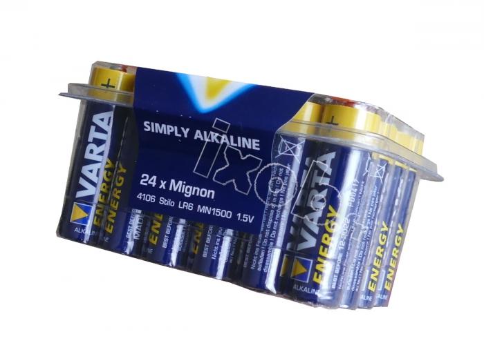 24 piles LR6 alkaline 1.5V AA VARTA ENERGY