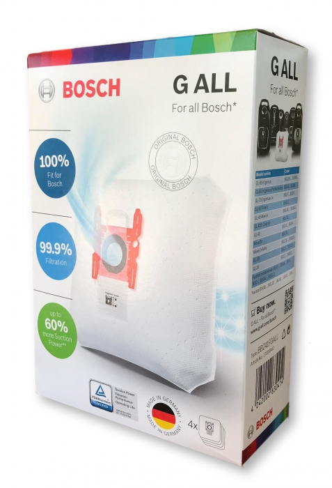 4 sacs type G-all aspirateur BOSCH G-ALL