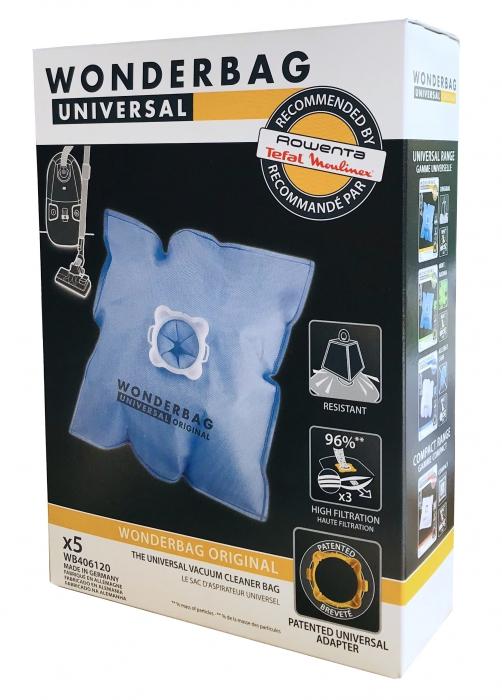 5 sacs Wonderbag aspirateur MOULINEX AAK452 - POWERCLEAN 1250