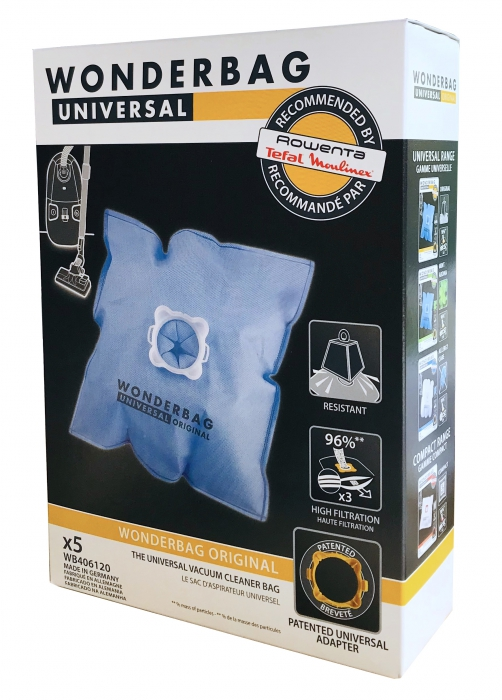 5 sacs Wonderbag aspirateur MOULINEX AAK454 - POWERCLEAN 1250