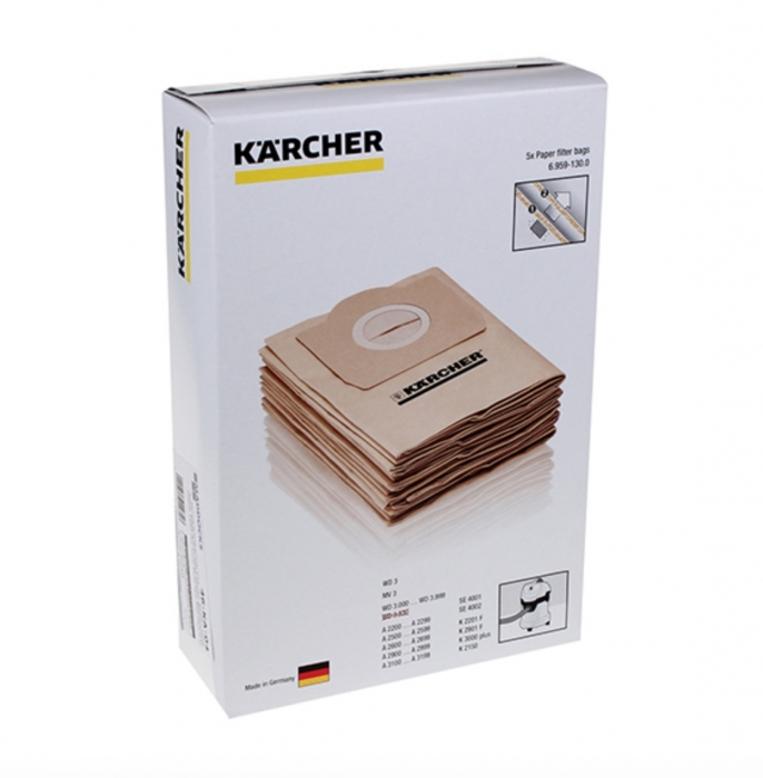 5 sacs aspirateur karcher wd3 premium lot de 5 sacs. Black Bedroom Furniture Sets. Home Design Ideas