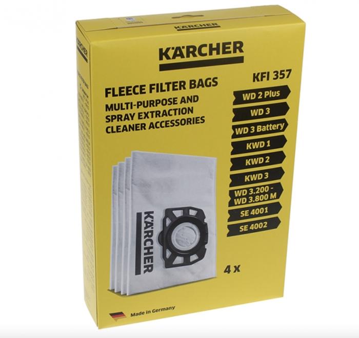 5 sacs aspirateur karcher wd3 premium lot de 5 sacs. Black Bedroom Furniture Sets. Home Design Ideas