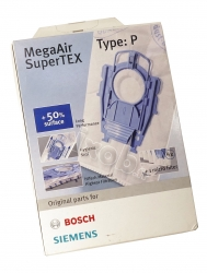 4 sacs TYPE P aspirateur BOSCH BSG81880GB/01