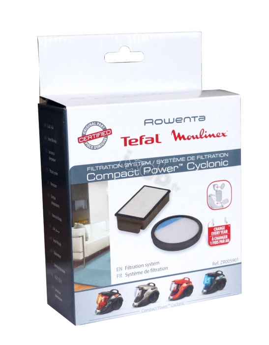 kit 2 filtres aspirateur moulinex mo3723pa compact power cyclonic. Black Bedroom Furniture Sets. Home Design Ideas