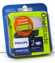 2 lames rasoir PHILIPS QP6520/30 - ONEBLADE PRO