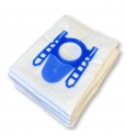 x10 sacs textile aspirateur LECLERC PLICOSA CVZ 01 - Microfibre