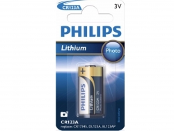 Pile CR123A 3V Photo Lithium Philips