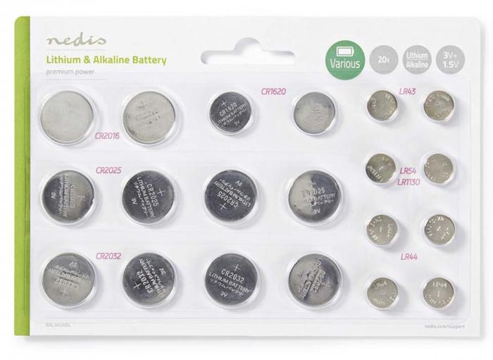 Pack 20 piles plates Lithium CR2032 - CR2016 - CR2025 - CR1620