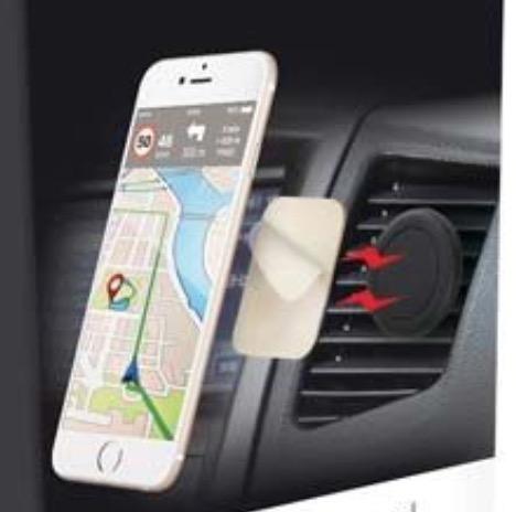 Support téléphone portable grille aération voiture