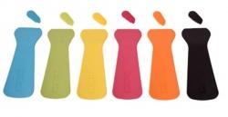 6 spatules raclette en plastique colorées
