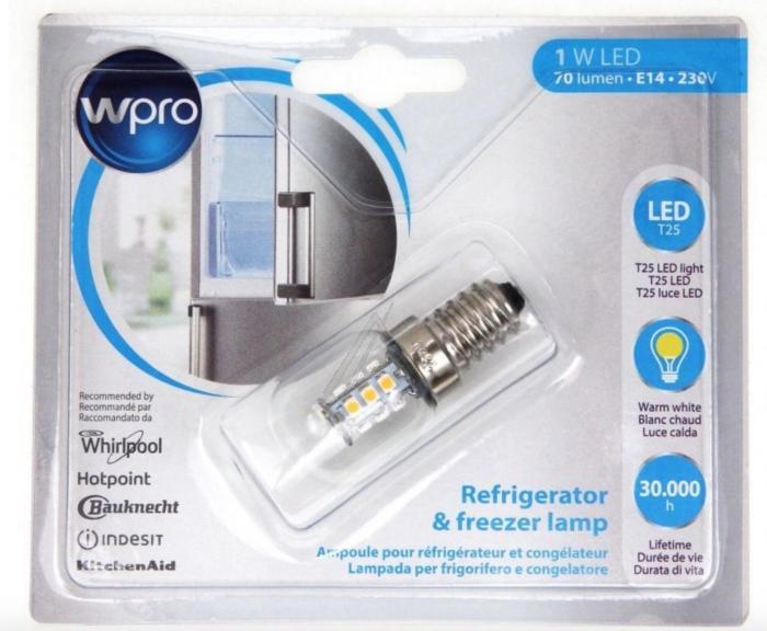 Ampoule LED E14 - 1W - Réfrigérateur - T25 - WPRO