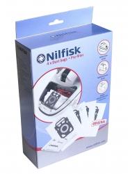 4 sacs d'origine aspirateur NILFISK ELITE BMSU14P10A1 SUPERIOR