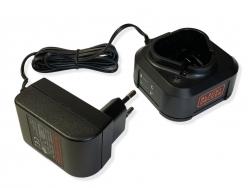 Chargeur 10.8V BLACK DECKER ELAGUEUR GKC108 PPERCEUSE HPL106