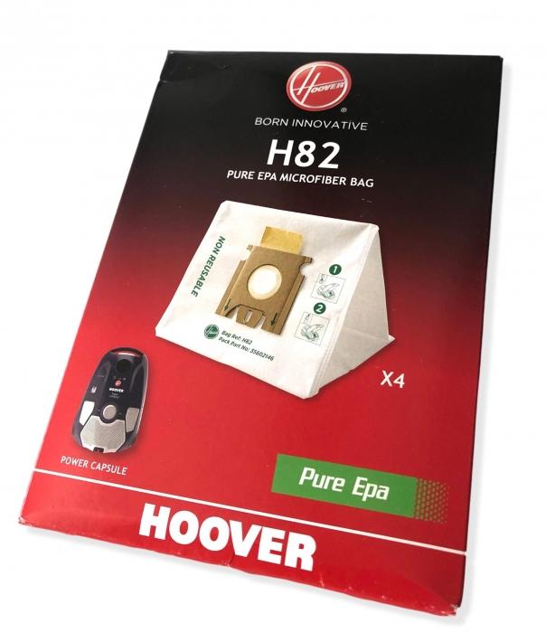 4 sacs H82 aspirateur HOOVER PC10PAR - POWER CAPSULE