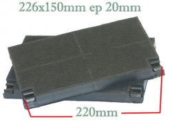 2 filtres charbon actif hotte A.E.G. 7509DM9