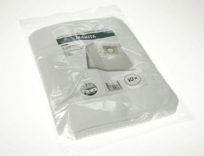 10 sacs microfibre MAKITA DVC260ZX aspirateur