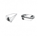 5 sacs microfibre aspirateur PARIS - RHONE A 268