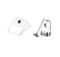 x10 sacs aspirateur SEVERIN ELECTRONIC 1400