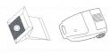 x10 sacs aspirateur HELKINA 1400W - 1600W TB